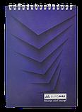 "Блокнот А5 48арк. ""Monochrome"" пружина зверху клітка, фото 2"