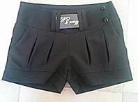 Стильные шорты короткие черные