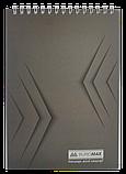 "Блокнот А5 48арк. ""Monochrome"" пружина зверху клітка, фото 4"