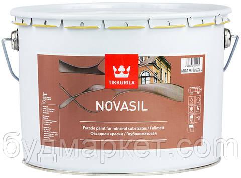 Краска фасадная Новасил Тиккурила база MRA 9 л