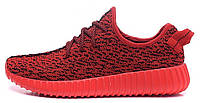 Женские кроссовки Adidas Yeezy Boost 350 Low Red (Адидас Изи Буст 350) красные