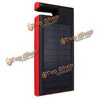 Солнечное зарядное устройство 8000mAh индикатор питания Dual USB порт света Power Bank для мобильного телефона