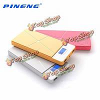 Pineng PN-983 10000мАh DC5V 2а Dual USB порт LCD  цифровой diaplay PowerBank
