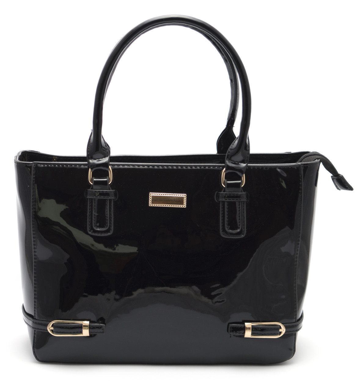 Красивая женская черная лаковая сумка Б/Н art. 62137