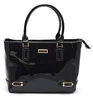Красивая женская черная лаковая сумка Б/Н art. 62137, фото 1