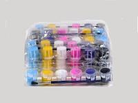 Краски акриловые 6 цветов с кисточкой, JX-661