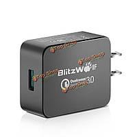 BW-S5 qc3.0 18w USB зарядное устройство с переходником US power3s технологий BlitzWolf® [Qualcomm сертификат]