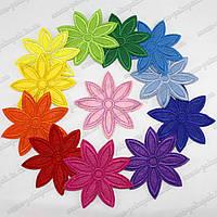 "Термоаппликация ""Цветы 8 лепестков"" (D=6,5см). Цена за 12шт"