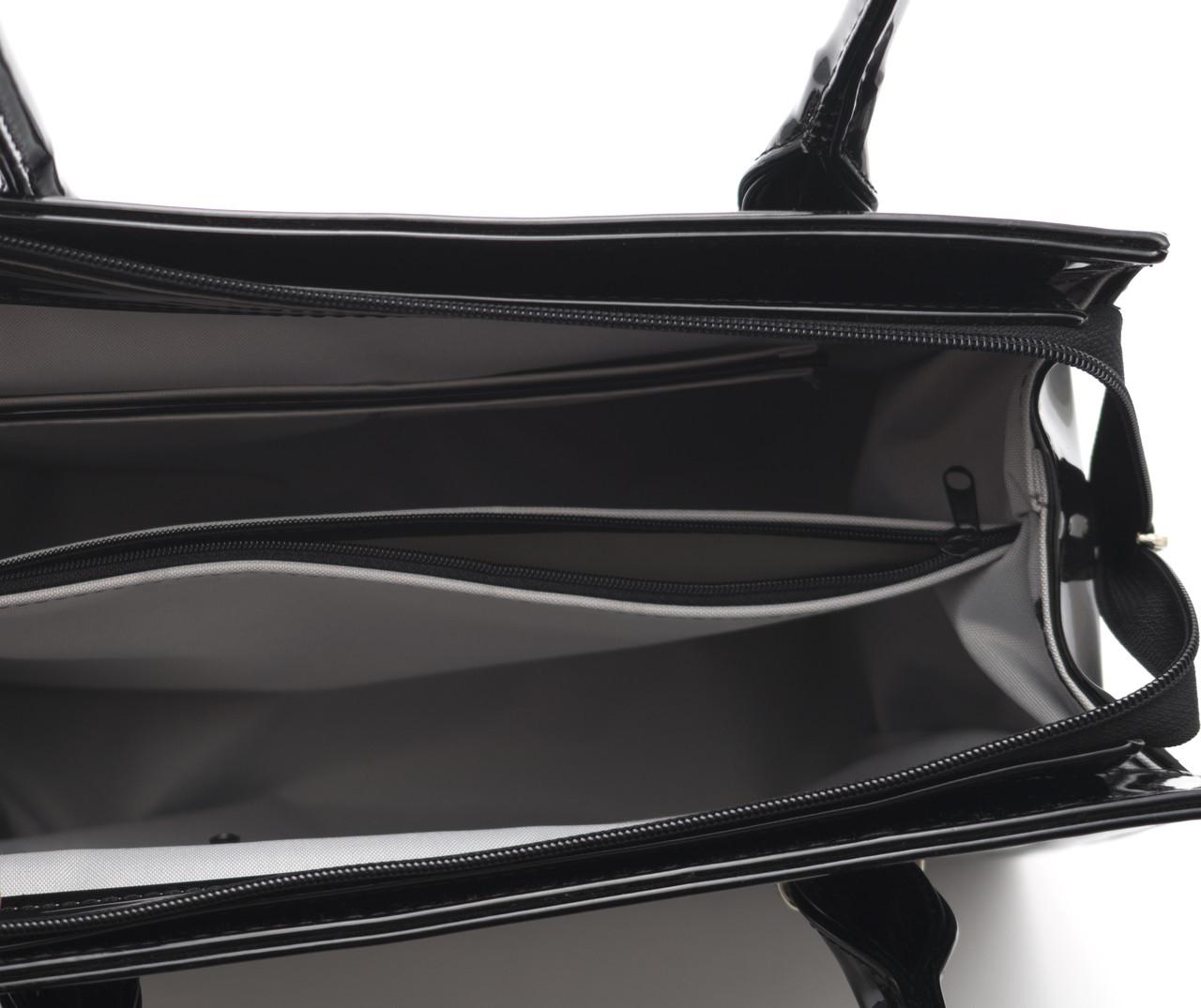ff80fe2e76b6 Черная лаковая женская сумка Zgarda Украина art. 35-14, цена 745 грн.,  купить в Виннице — Prom.ua (ID#332796341)