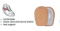 Подпяточник выполнен из мягкой латексной пенки и нежной кожи пекари