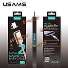 USAms Magnetic Adsorption нейлон плетения кос Micro-USB зарядное устройство кабель данных, фото 2