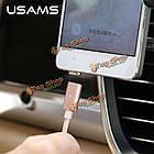 USAms Magnetic Adsorption нейлон плетения кос Micro-USB зарядное устройство кабель данных, фото 3