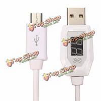 Micro-USB LCD  дисплей безопасности напряжения кабель синхронизации тока Smart данных защиты USB 2.0