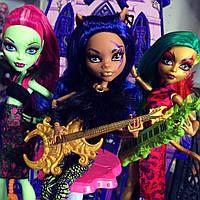 Набор Monster High Венера, Дженифер, Клодин (Venus, Jinafire, Clawdeen) Пугающие Рокеры Монстер Хай Школа