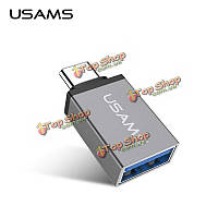USAms USB3.1 Type-C к USB адаптер OTG для MacBook связующей 5X 6p Xiaomi 5 4S Nokia n1