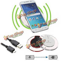 Qi беспроводной зарядки зарядное устройство площадку для Samsung Galaxy S6 Nokia HTC LG iPhone 6 5s, фото 1