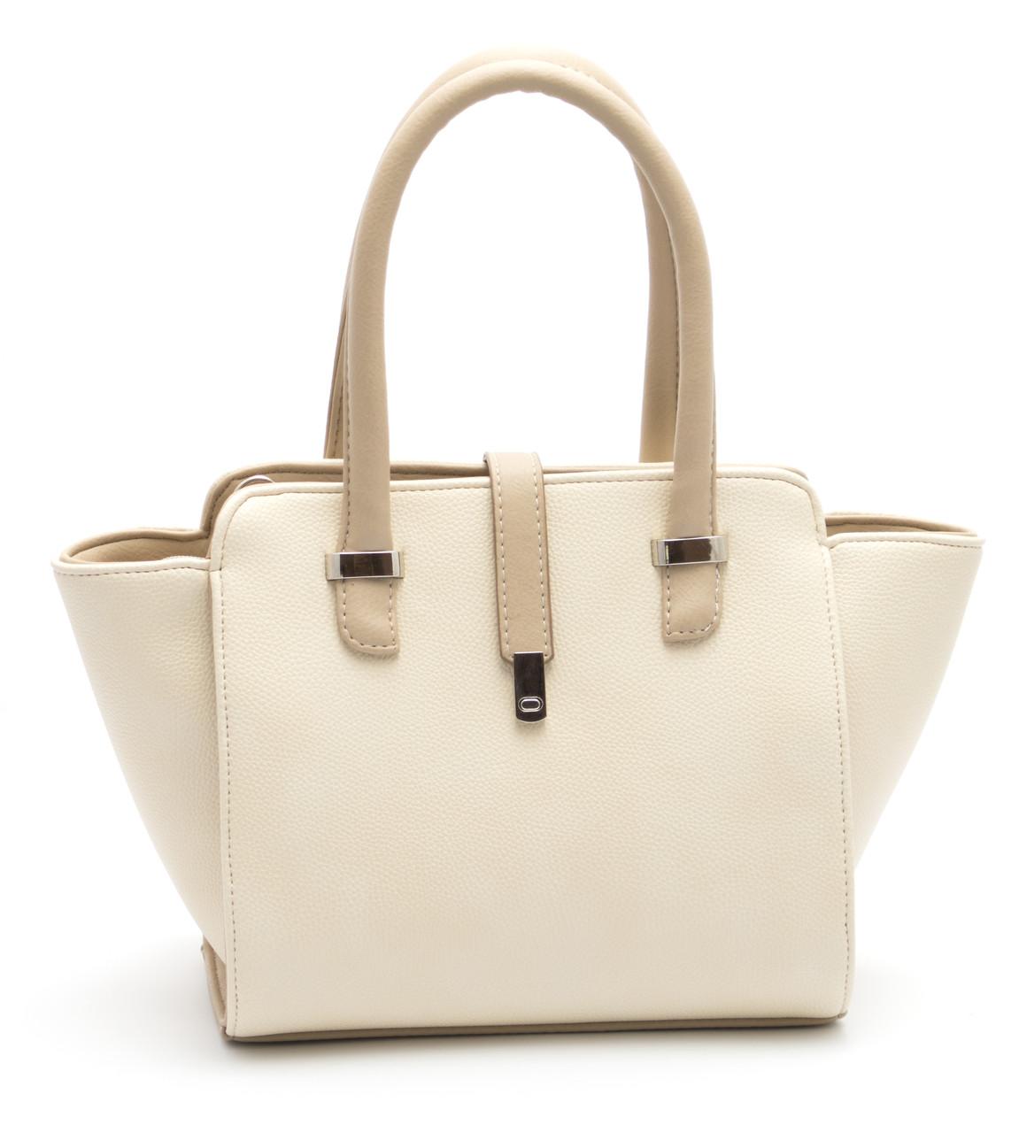 Стильная женская сумка бежевого цвета B.Elit art. 06-16