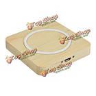 Wood Qi беспроводное зарядное устройство адаптер площади зарядный коврик для мобильного телефона, фото 2