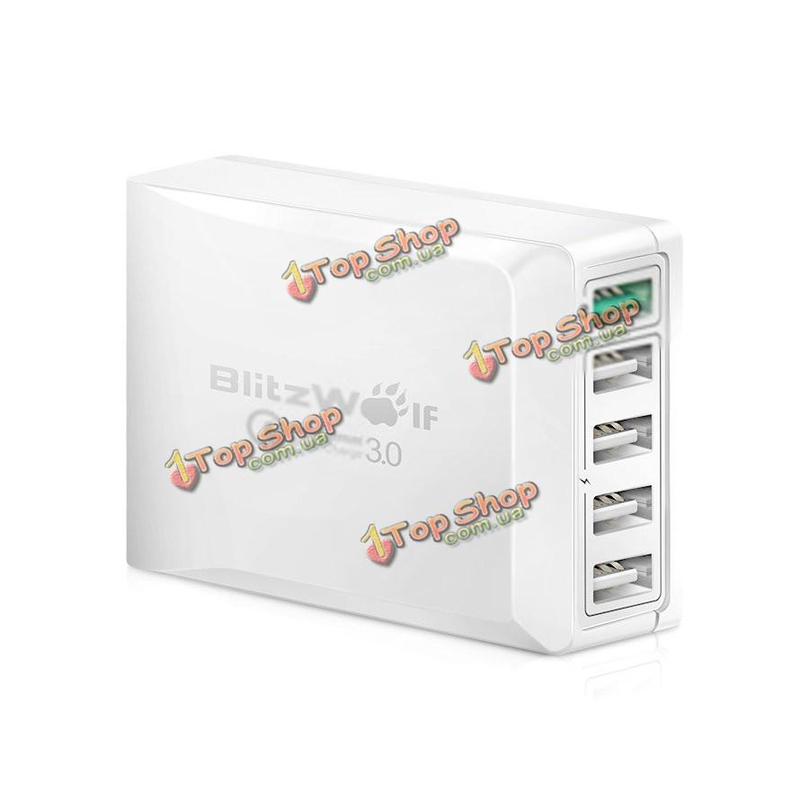 Адаптер зарядное устройство 5 USB Power 3s 40Вт BlitzWolf BW-S7