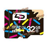 LD 32Гб Class 10 Micro-SD TF/Micro-SD карта для мобильного телефона