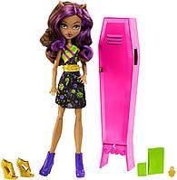 Кукла Клодин Вульф со шкафчиком - Monster High Ghoul-La-La Locker Vehicle with Clawdeen Wolf Doll