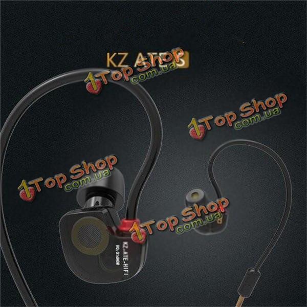 KZ ATE s Hi-Fi динамический стерео Super бас шумоподавления Sport вкладыши гарнитура наушники с микрофоном