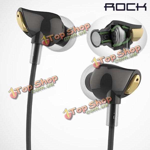 ROCK циркон в ухо проводное управление стерео нейлон ткачество стерео наушники для мобильного телефона