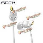 ROCK циркон в ухо проводное управление стерео нейлон ткачество стерео наушники для мобильного телефона, фото 2