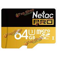 Netac PRO p500 64Гб b USH-I и3 TF/Micro-SDXC карта для мобильного телефона