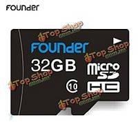 Founder 32Гб Class 10 карта памяти Micro-SDHC карта TF/Micro-SD