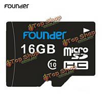 Founder 16Гб Class 10 карта памяти Micro-SDHC карта TF/Micro-SD