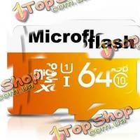 Micro-SDXC карта памяти Class 10 TF 64Гб b Micro-Flash