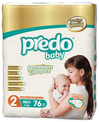 Подгузники детские PREDO BABY Mini 2 (3-6 кг.) Jumbo 76 шт, фото 2