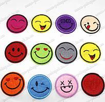 "Термоаппликация ""Smile мал."" (d=4,5см). Цена за 12шт"