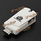 Mini 2в1 Micro-USB OTG адаптер SD и TF кард-ридер, фото 4