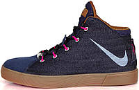 Баскетбольные кроссовки Nike LeBron 12 NSW Lifestyle Denim Midnight Navy, найк леброн
