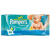 Влажные детские салфетки Pampers с алоэ, 64 шт.