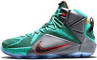 Баскетбольные кроссовки Nike LeBron 12 Miami Dolphins, найк леброн
