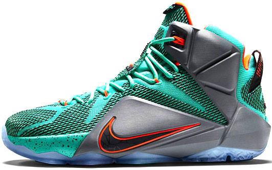 42008a9a Баскетбольные Кроссовки Nike LeBron 12 Miami Dolphins — в Категории ...