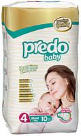 Подгузники детские PREDO BABY Maxi 4 (8-18 кг.) Small 10 шт