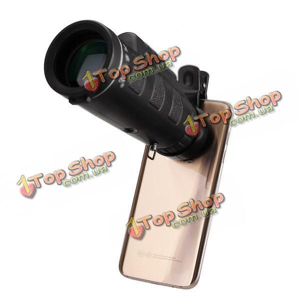 Универсальный 10x40 туризм объектив камеры концерт монокулярная + телефон клип смартфон
