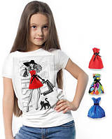 """Футболка и 3 сменных платья """"Fashion Look""""; 3, 4, 5, 6-7, 8-9, 10-11, 12-13 лет"""