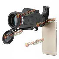 Jinjuli 35X 50 HD высокой мощности универсальный клип Mini-монокуляр телескоп объектив для смартфон