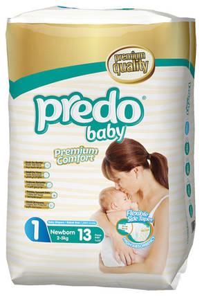 Подгузники детские PREDO BABY NewBorn 1 (2-5 кг.) 13 шт, фото 2