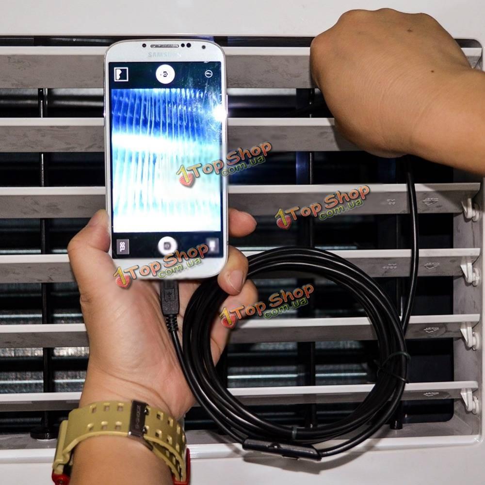 Jinglecn 1/2/3.5/5м 7мм 6 LED 0.3 миллиона пикселей высокой четкости Micro-USB камеры эндоскопа шпиона