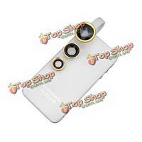 Клип fisheye объектив универсальный широкий угол макро объектив камеры 3в1 для мобильного телефона