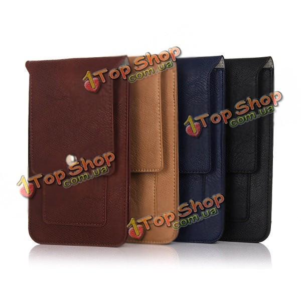 Универсальный кожа Waist мешок телефона телефон чехол бумажник чехол для телефона под 6.3-дюймов
