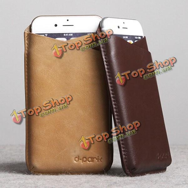 CrazyHorse D-park v-образный вырез универсальный сотовый телефон кожа чехол для 5.5-дюймов или меньше смартфон ставку