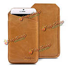 CrazyHorse D-park v-образный вырез универсальный сотовый телефон кожа чехол для 5.5-дюймов или меньше смартфон ставку, фото 3
