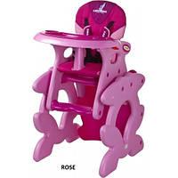 Стульчик для кормления трансформер Caretero Primus - pink, многофункциональный стульчик
